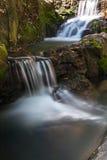 河,秋天,密林,瀑布 图库摄影