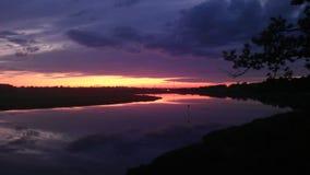 河&天空 库存照片