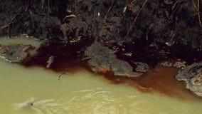 河水污染和污秽从化工业工厂污水 影视素材