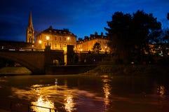 河Avon在晚上 库存照片