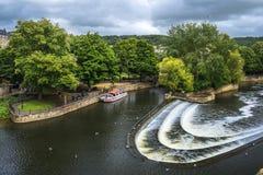 河Avon在巴恩,英国 免版税库存照片