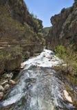 河Borosa走的足迹在山脉卡索拉山 免版税图库摄影