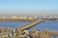 河Dnieper的看法 库存图片