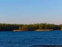 河Dnieper风景 免版税库存图片