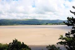 河Dwyryd, Portmeirion,威尔士 库存图片