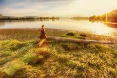 河Gaula,挪威 免版税图库摄影