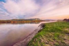 河Gaula,挪威 免版税库存照片
