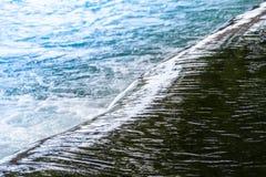 河Jimenoa对角线视图浅滩  库存图片
