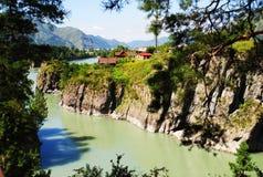 河Katun的看法 免版税图库摄影