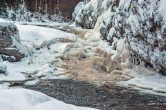 河Kitkajoki芬兰 免版税图库摄影