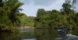 河Kwai。 泰国 库存照片