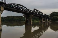 河Kwai桥梁, Kanjanaburi世界大战2历史桥梁 图库摄影