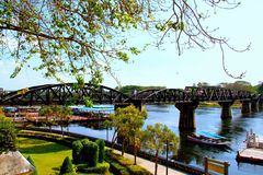 河kwai的桥梁 图库摄影