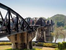 河Kwai死亡铁路桥  图库摄影