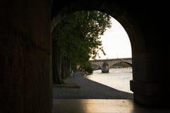 河la塞纳河 免版税库存图片
