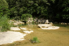河lauquet在Corbieres,法国 免版税图库摄影
