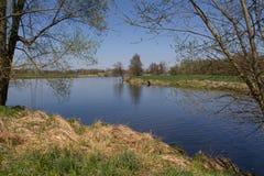 河Naab在春天 库存照片