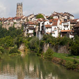 河Sarine通过弗里堡 库存图片