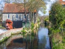 河Stour在坎特伯雷 免版税库存图片