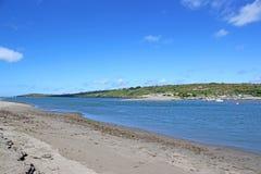 河Teifi,威尔士 库存图片