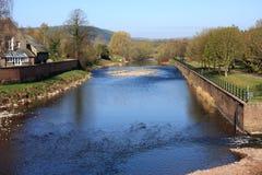 河Usk, Brecon 库存照片
