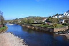 河Usk, Brecon 库存图片