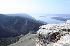 河Voga的看法从一座高山的 库存照片