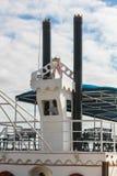 河wheelboat的管子在河的在多米尼加共和国 免版税图库摄影