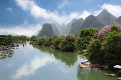 河yangshuo yulong 免版税图库摄影