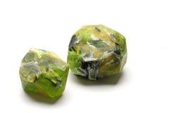 绿沸铜肥皂岩石,手工制造宝石肥皂石头 库存照片