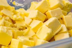 黄油乳酪切片 图库摄影
