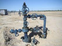 油井在北俄罗斯 库存照片
