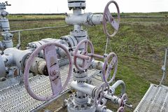 油井的设备 图库摄影