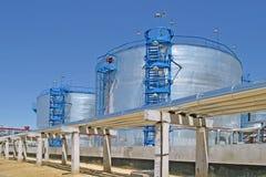 油加工设备 免版税库存图片