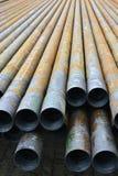 钻油和煤气井的管子 免版税图库摄影