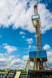 钻油和煤气井的船具 库存图片