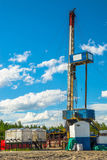 钻油和煤气井的船具 免版税库存照片