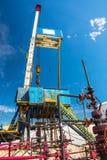 钻油和煤气井的船具 免版税图库摄影