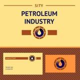 油和煤气产业的标志 管道与 库存照片