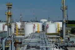油和煤气产业,石油化工厂 库存图片