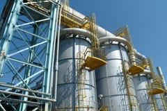 油和煤气产业,石油化工厂 库存照片