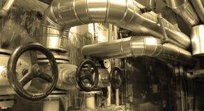 油和煤气传递途径 库存图片