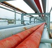 油和煤气传递途径 免版税库存图片