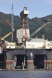 油和煤气平台在挪威 能源业 石油 免版税库存图片