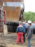 油和煤气管道的建筑 免版税库存图片