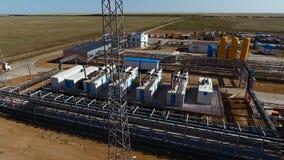 油和煤气精炼厂生产工厂鸟瞰图  影视素材