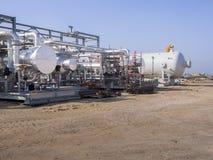 油和煤气建筑,埃及,三角洲 库存照片