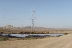 油在Qobustan 免版税库存照片