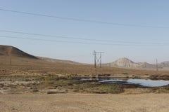 油在Qobustan 免版税库存图片