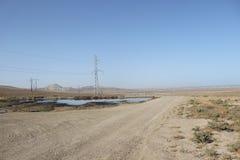 油在Qobustan 库存图片